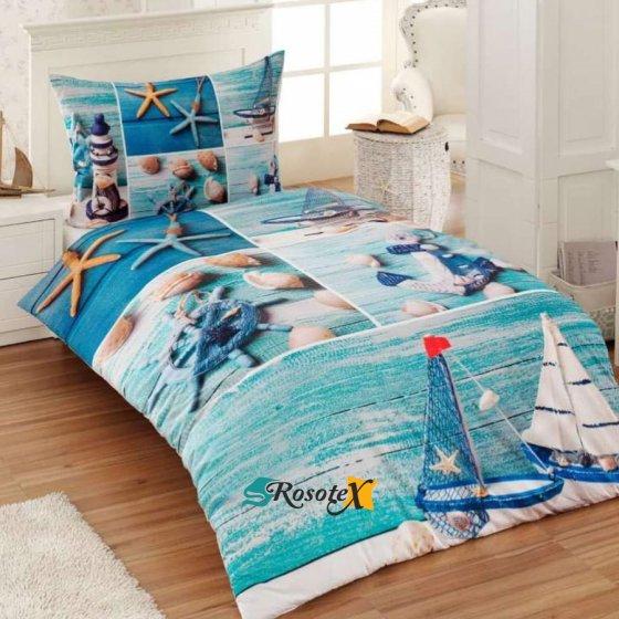 bavlnene obliecky 3d foto deluxe 140x200 so zipsom marine