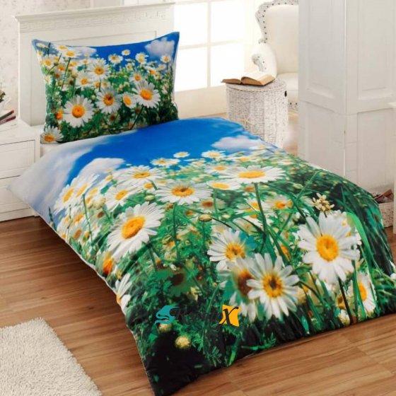 bavlnene obliecky 3d foto deluxe 140x200 so zipsom flowers