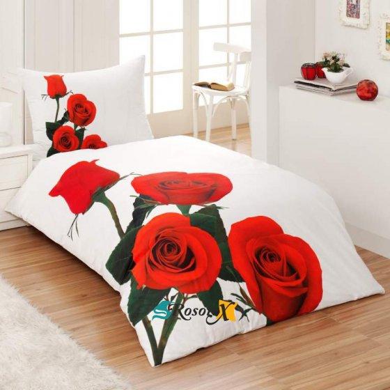 bavlnene obliecky 3d foto deluxe 140x200 so zipsom rose