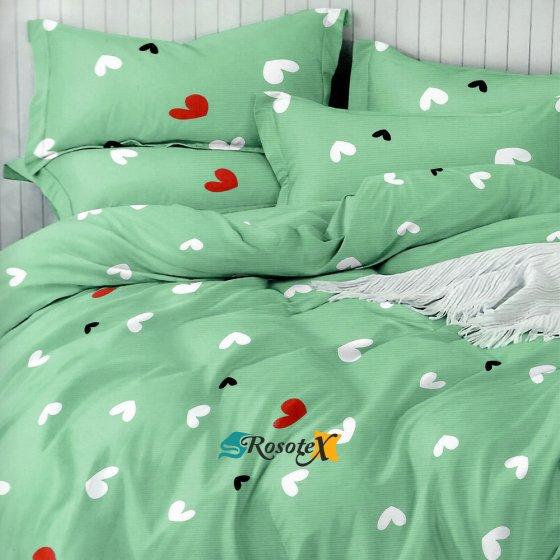 postelne obliecky HEARTS 18 yelow 7 dielne balenie 140x200