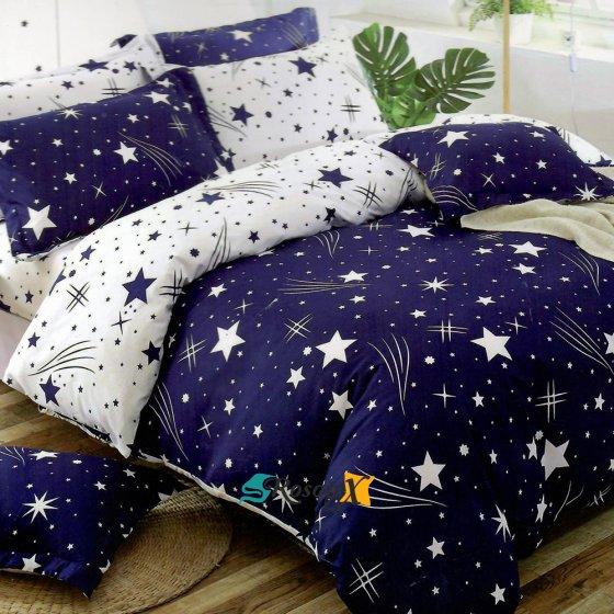 bavlnene obliecky STAR 07 blue 140x200