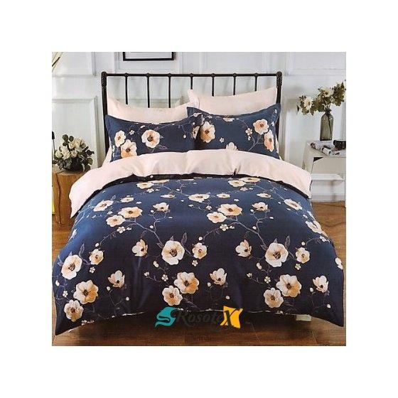bavlnene obliecky FLOWER BLUE 140x200cm