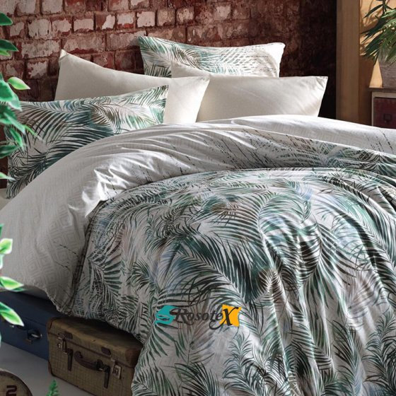 bavlnene obliecky 3d foto deluxe 140x200 so zipsom palm