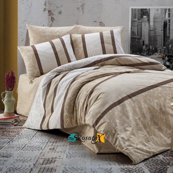 bavlnene obliecky 3d foto deluxe 140x200 so zipsom top brown