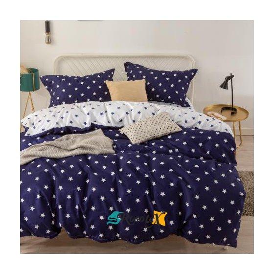 bavlnene obliecky STAR BLUE 3 dielna sada 140x200cm