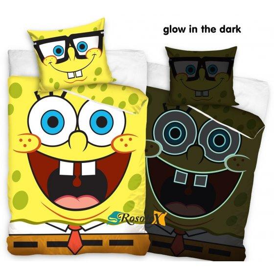 bavlnene obliecky spongebob 140x200cm 2411