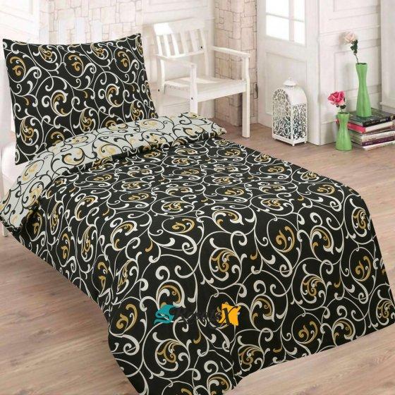 Obliečky ALISE čierna Bavlna 70x90 140x200 cm