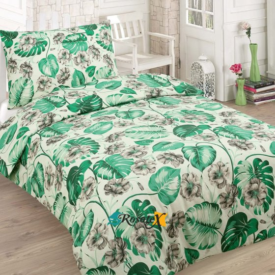 francuzske obliecky SOFI GREEN 5 dielna sada 200x220cm