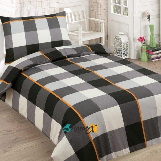 bavlnene obliecky SQUARE BLACK 2 set 140x200cm
