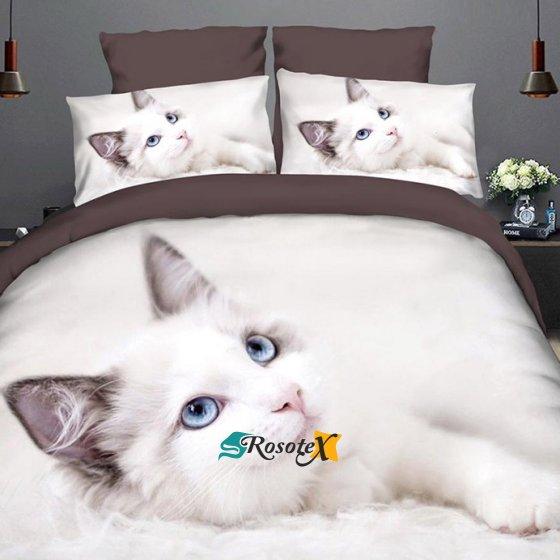 bavlnene obliecky WHITE CAT 3 dielna suprava 140x200cm