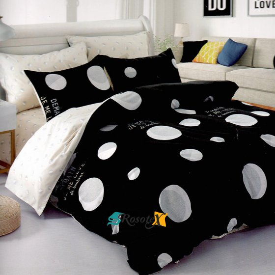 postelne obliecky DEMAIN BLACK 7 dielna sada 140x200cm