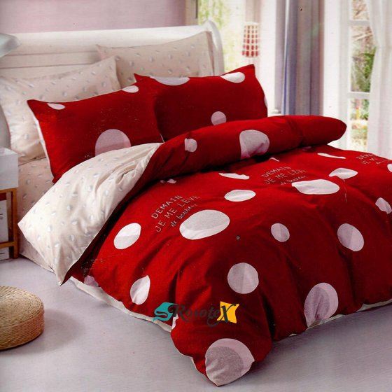 postelne obliecky DEMAIN RED 7 dielna sada 140x200cm