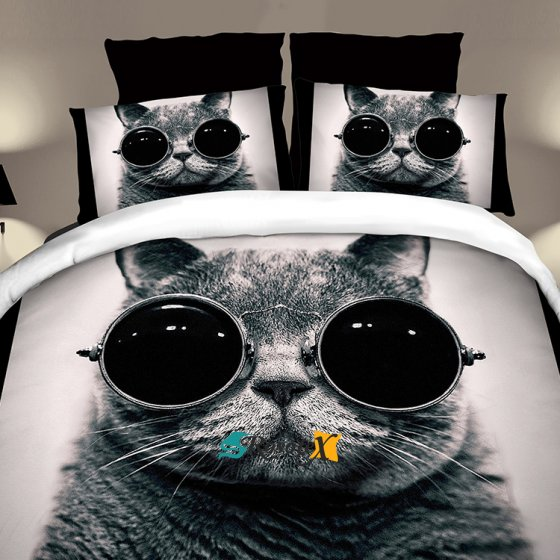 postelne obliecky COOL CAT 7 dielna suprava 140x200cm zips