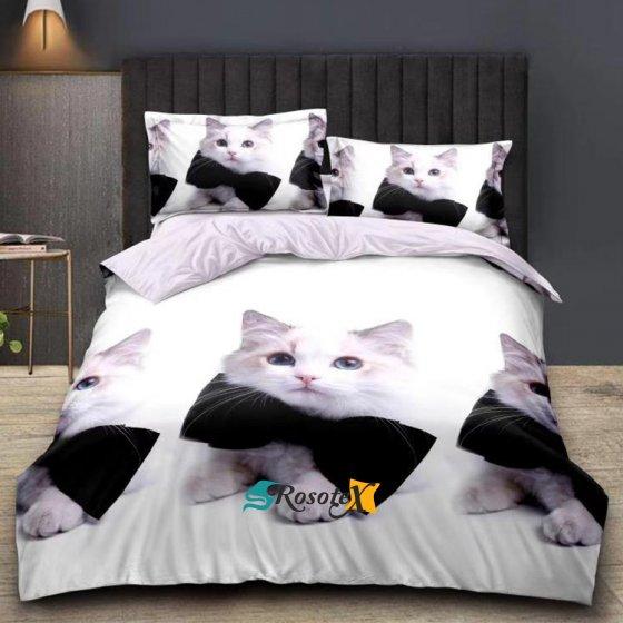 postelne obliecky SERIOUS CAT 7 dielna suprava 140x200cm zips