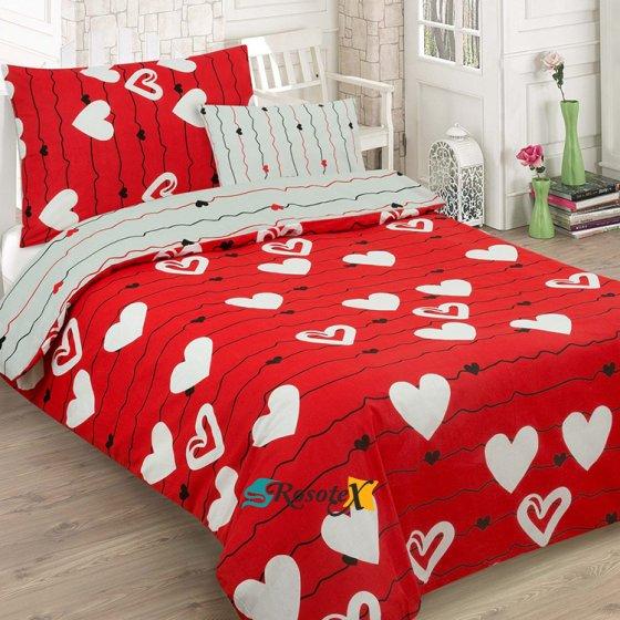 Bavlnené obliečky RED LOVE 2 dielna sada 140x200cm