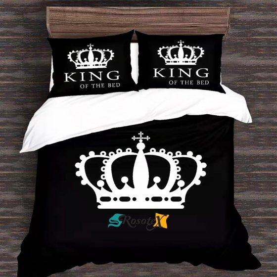 postelne obliecky KING OF THE BED 7 dielna suprava 140x200cm gombik