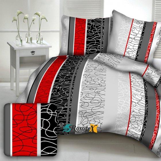 bavlnene obliecky LEA RED dvojdielna sada 140x200cm