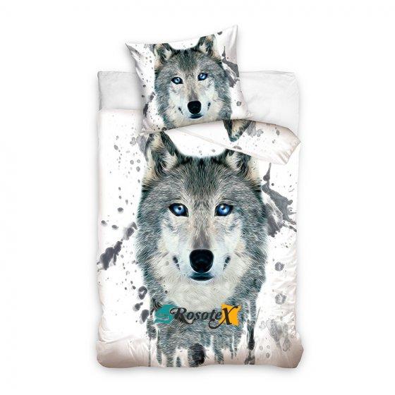 bavlnene obliecky WOLF WHITE dvojdielna sada 140x200cm