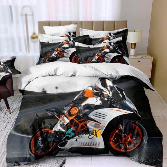 postelne obliecky THEO MOTORCYCLE 3 dielna sada 140x200cm