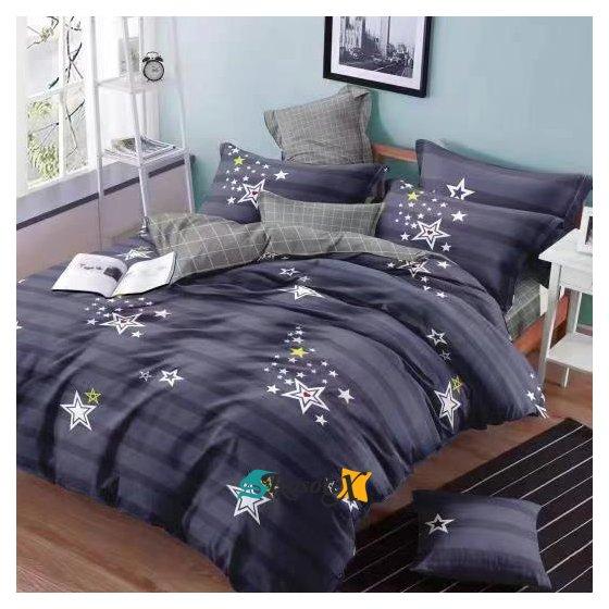 postelne obliecky KAMILA BLUE STAR 7 dielna suprava 140x200cm