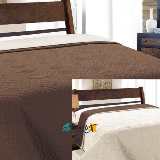 obojstranny prehoz na postel vigo brown 220x240cm 2654