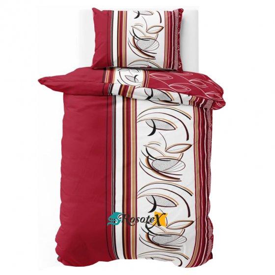 bavlnene krepove obliecky PALOMA RED 140x200cm