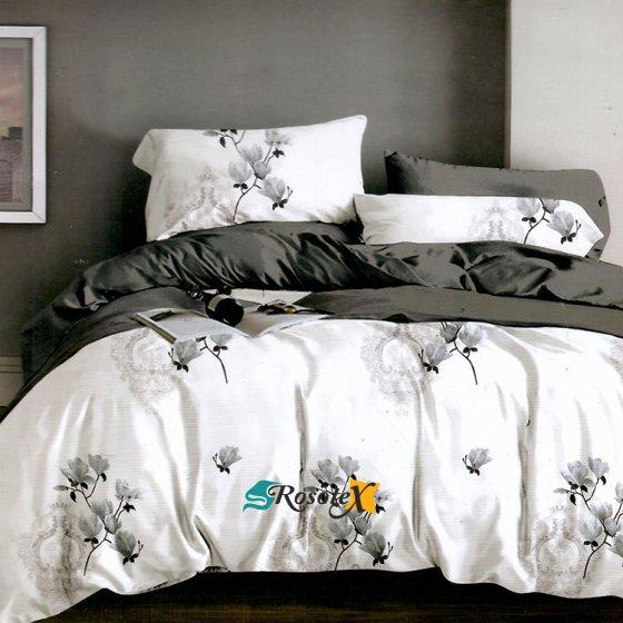 bavlnene obliecky LEA BLACK WHITE 7 dielna sada 200x220cm