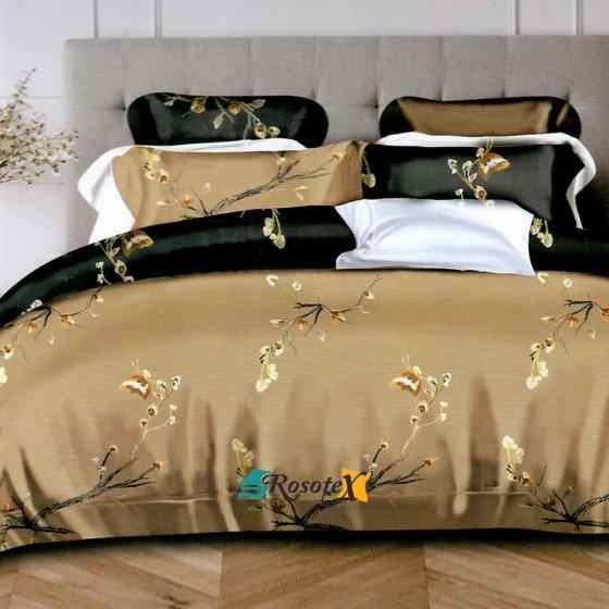 bavlnene obliecky LEA GOLD FLOWERS 7 dielna sada 200x220cm