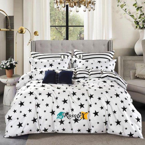 bavlnene obliecky SILVIA STAR WHITE 7 dielna sada 140x200cm