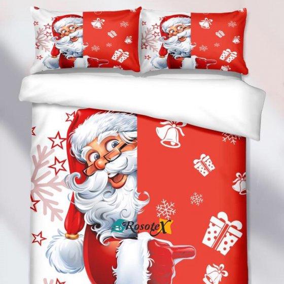 obliecky christmas time red santa 3 dielna sada 140x200cm 3666