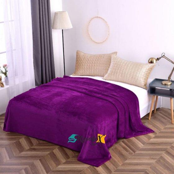 Hebká fialová deka vhodná aj pre alergikov