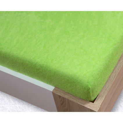 zelena svetla frote plachta 520x520
