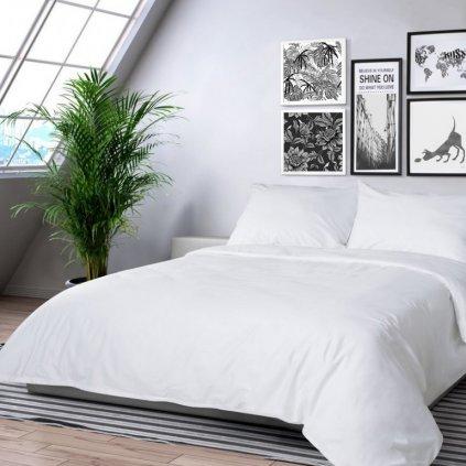 klasik biele bavlnene obliecky 140x200cm
