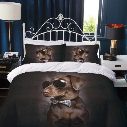 obliecky 3d foto dog sunglass 140x200cm