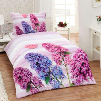 bavlnene obliecky 3d foto deluxe 140x200 so zipsom lavender