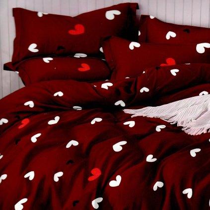 postelne obliecky HEARTS 17 red 7 dielne balenie 140x200