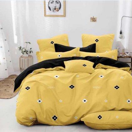 bavlnene obliecky 3d foto CHILL yelow bavlna 140x200
