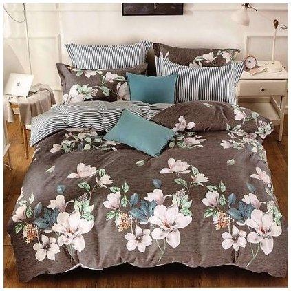 bavlnene obliecky FLOWER BROWN 140x200cm