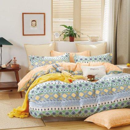 luxusne bavlnene obliecky MILANO 76 deluxe 140x200 so zipsom