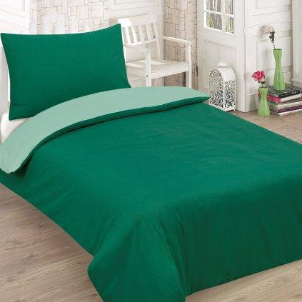bavlnene obliecky GREEN 2 dielna sada 140x200cm