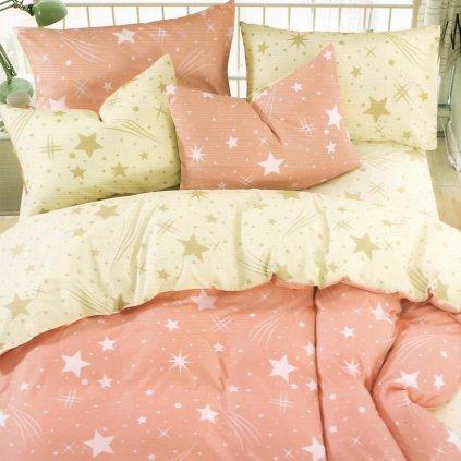 bavlnene obliecky STAR ORANGE 140x200cm