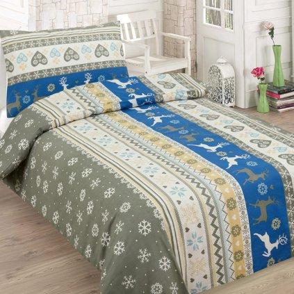 bavlnene obliecky CHRISTMAS blue140x200cm