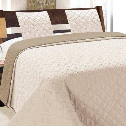 obojstranny prehoz na postel vigo cappuccino 2 220x240cm