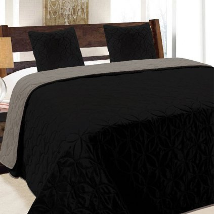 obojstranny prehoz na postel vigo black 2 220x240cm
