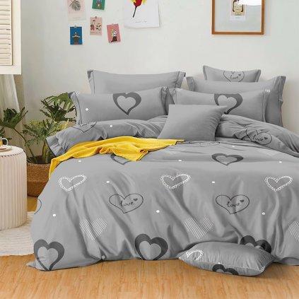 bavlnene obliecky LOVED GRAY 140x200cm