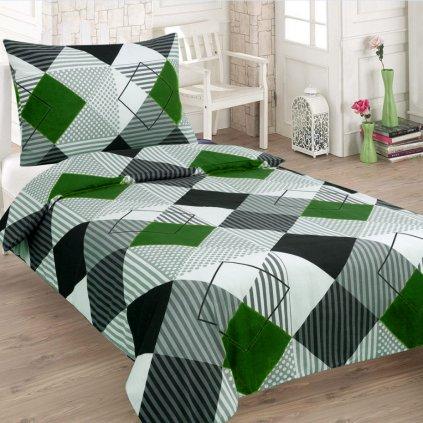 krepove obliecky square green 140x200cm