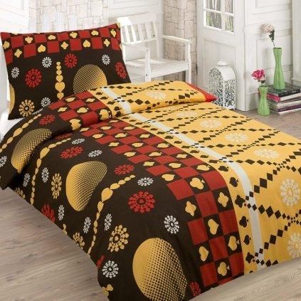 Bavlnené obliečky MARKO  žltá 140x200cm