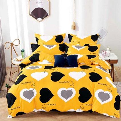 postelne obliecky YELOW LOVE
