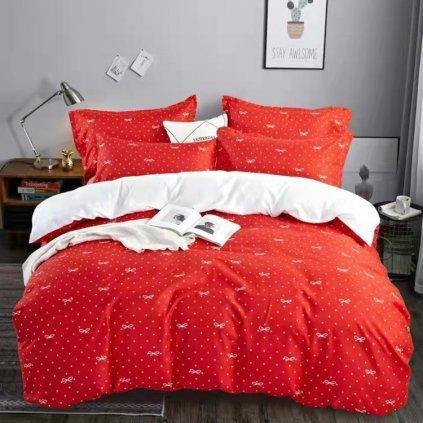 postelne obliecky RIBBON RED 7 dielna sada 140x200cm