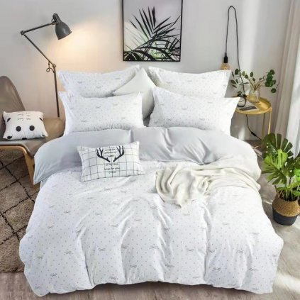 postelne obliecky RIBBON WHITE 7 dielna sada 140x200cm